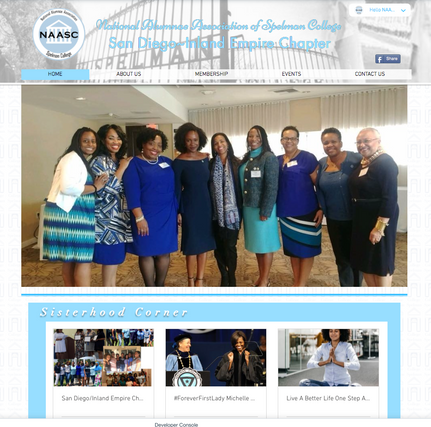 Website for Natl. Alumni Assoc. Spelman College