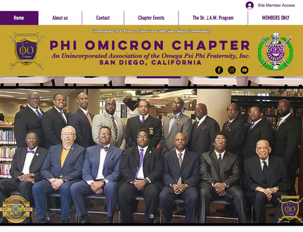 Website for Omega Psi Phi, Phi Omicron Chapter