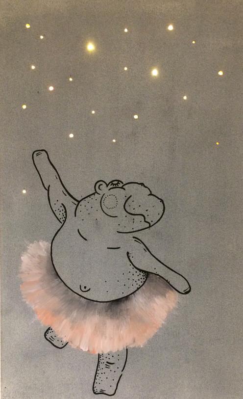 Nilpferd tanzend Nachtlicht