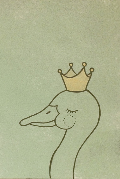 Ente mit Krone