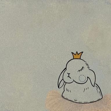 Hase mit Krone