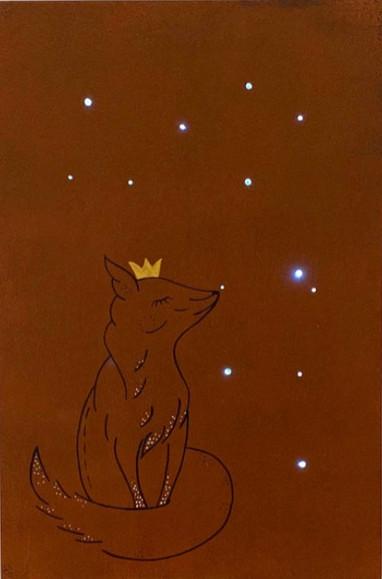 Fuchs mit Krone Nachtlicht