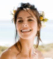 Beautiful happy bride bridal hair salon Great Falls, MT