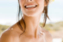 stock image woman smiling