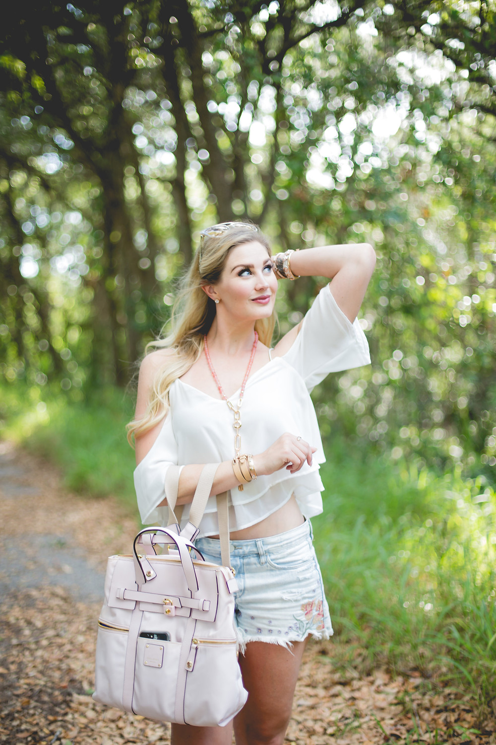 White Flutter Cold Shoulder