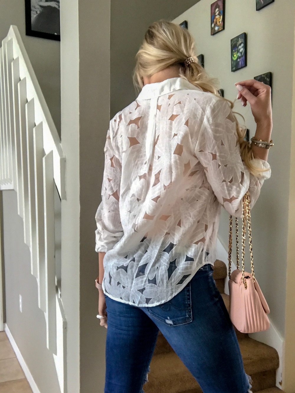 Casual Chic in a White Button Down