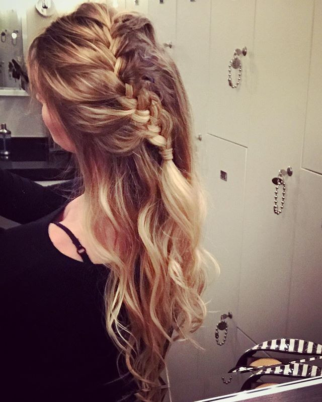 Diagonal Side Braid Half Do