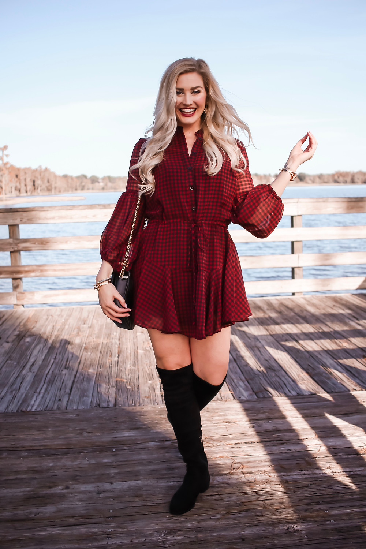 Buffalo Plaid Dress + Giveaway