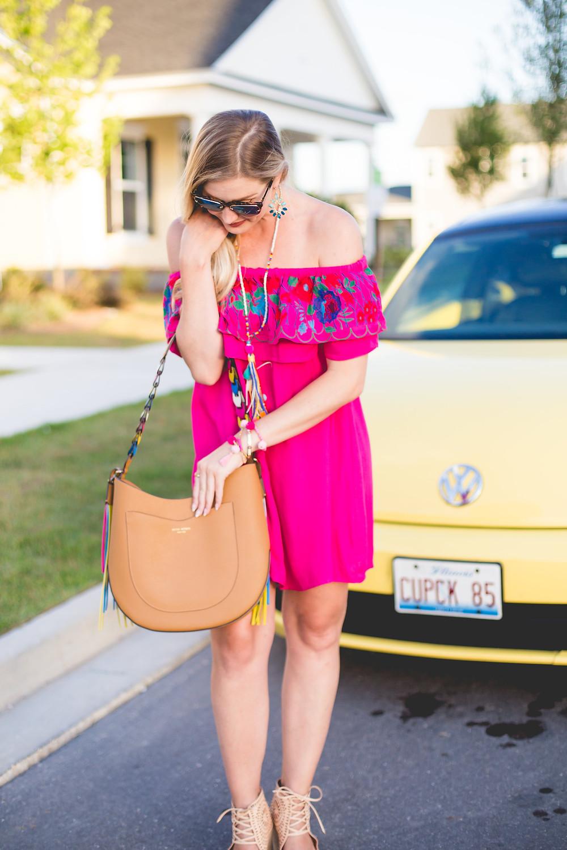 Pink OTS Dress