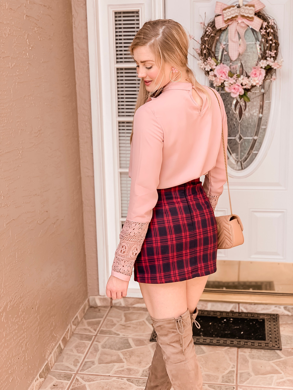 Pink Ruffle Blouse