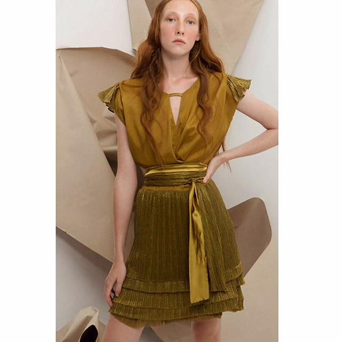 Yiorgos Eleftheriades Gold Mini Dress with Metallic details