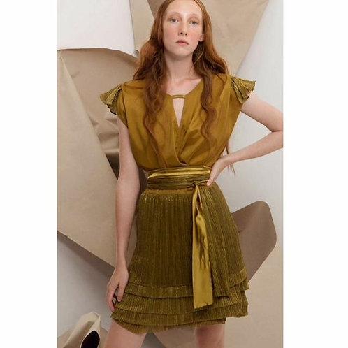 Yiorgos Eleftheriades Gold Mini Dress with Metallic details