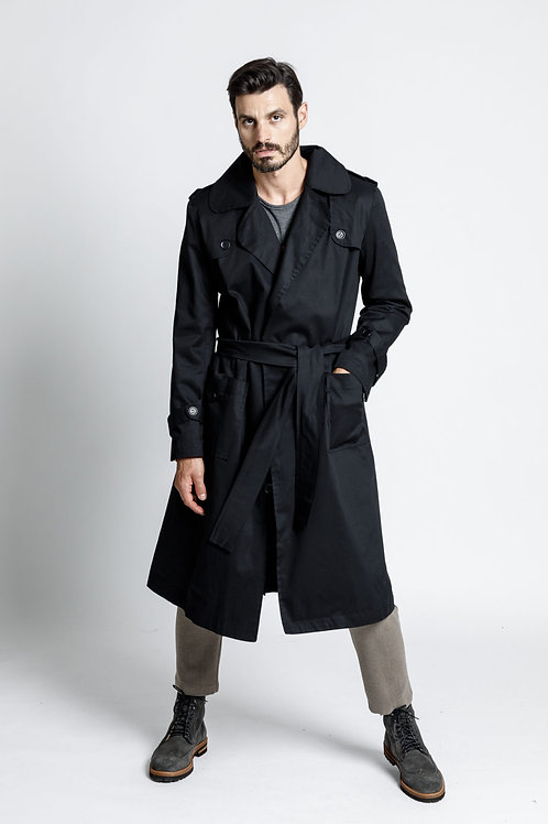 Dante trench coat black