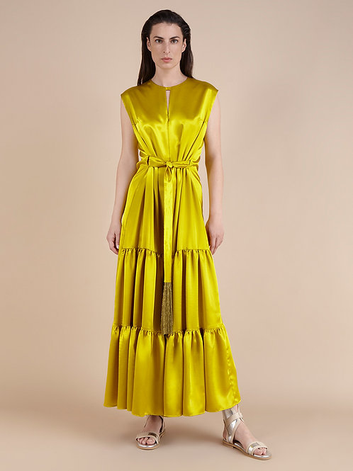 Yiorgos Eleftheriades Full Lenght Yellow Dress