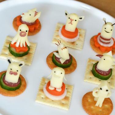 Animal cheese / チーズのピンチョス