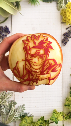 Video/Apple carving / naruto