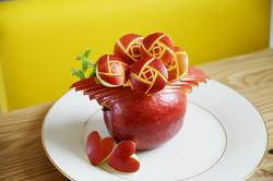 果物彫刻/りんご