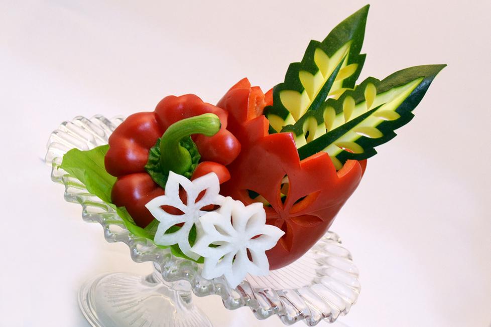 野菜彫刻 / パプリカ