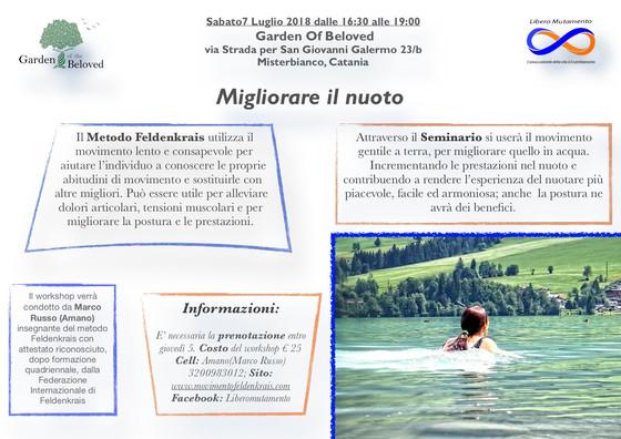 Migliorare il nuoto col Metodo Feldenkrais, Misterbianco