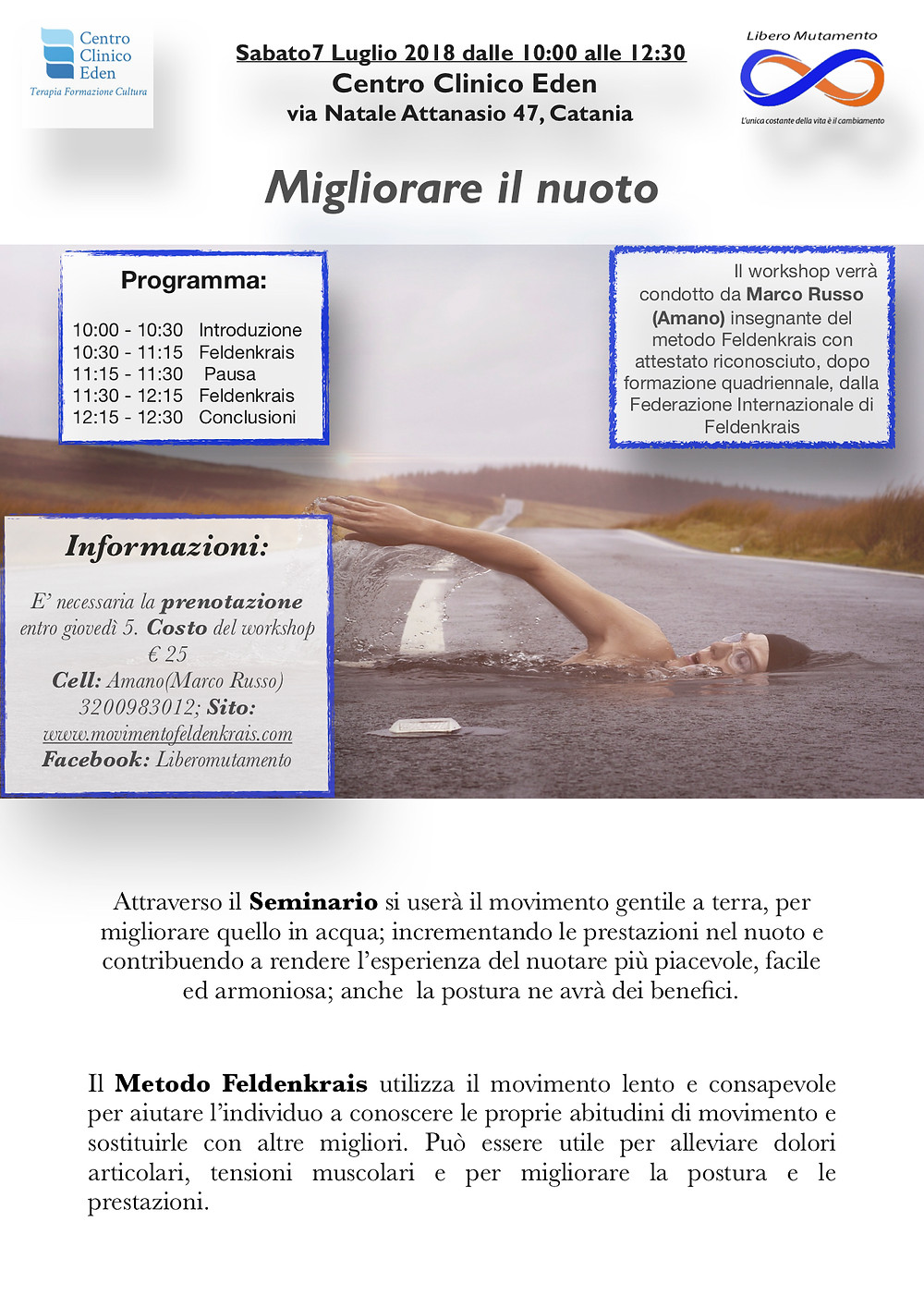 Migliorare il nuoto col Metodo Feldenkrais