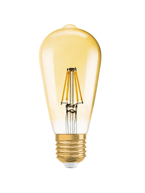 Vintage 1906 LED dim CL Edison  FIL GOLD 55 dim  7,5W/825 E27