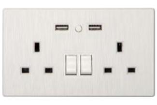 TCP Smart WiFi 2 Gang Wall Socket White UK