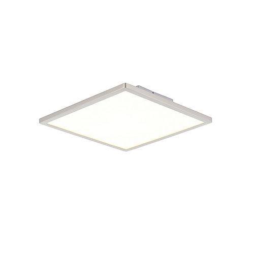 Ceres 250mm square flush 10W warm white Satin Nickle & Opal Plastic