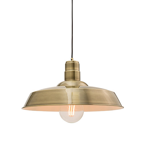 Moore 1lt pendant 60W Antique Brass