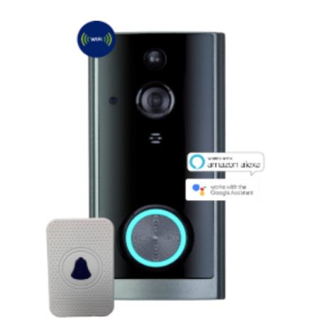 TCP Smart WiFi Door Bell Motion Sensor Black