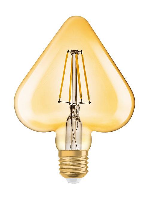 Vintage 1906 LED CL HEART  FIL GOLD 40 non-dim  4,5W/825 E27