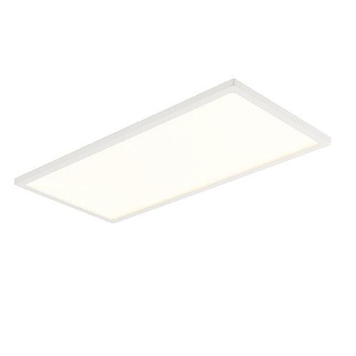 Ceres 450mm rectangle flush 20W warm white White & Opal Plastic