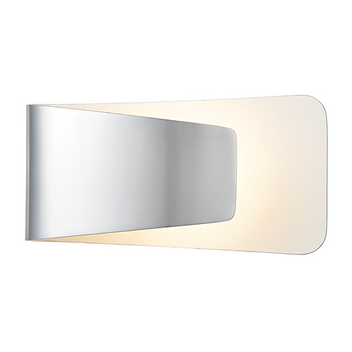 Jenkins 1lt wall 7.5W warm white Polished Aluminium & White Paint