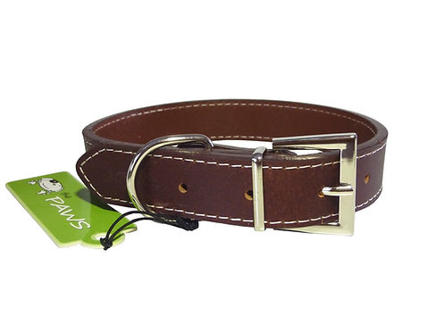 Top Grain Brown Collar - Medium