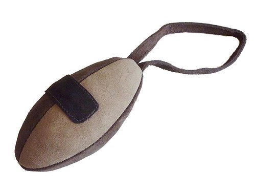 Rugby Suede Leather Ball Toy