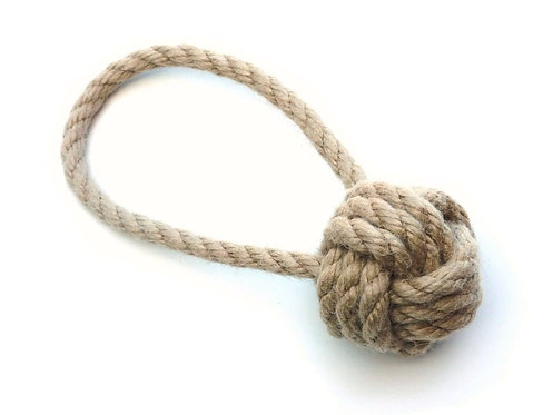 Tough Ball Rope Toy - Small