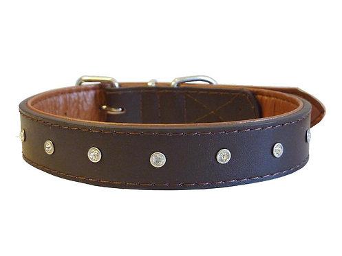 Diamante Brown Collar - Small