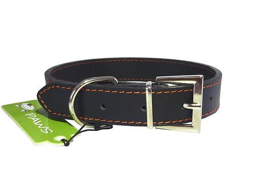 Top Grain Black Collar - Medium
