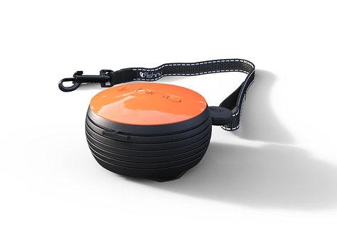 Hand-free retractable dog lead - Orange