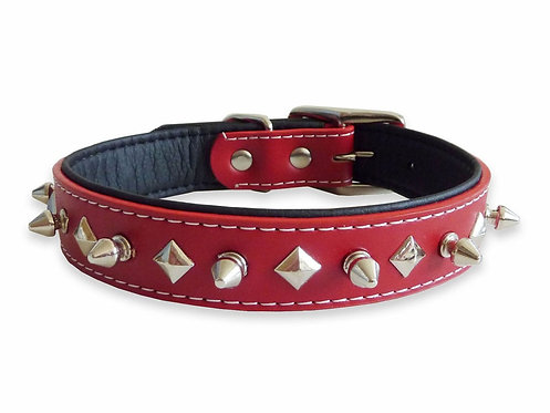 Stud Red Collar - Large