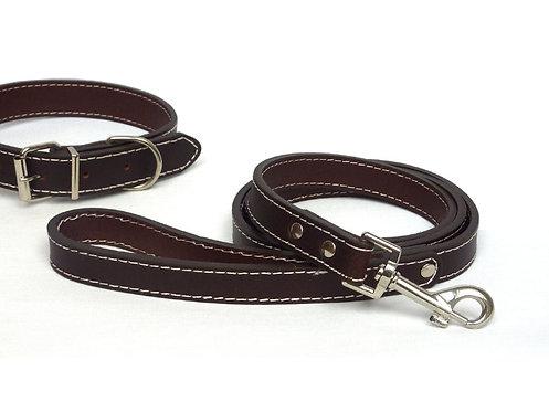 Plain Brown Leather Lead