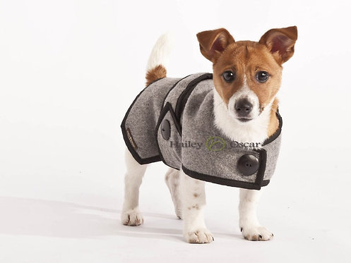 Grey Wool Blazer Coat - Large