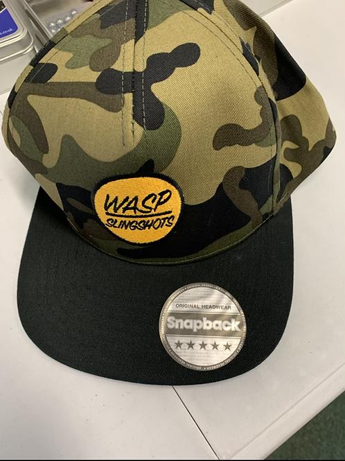 WASP Camo Snapback Cap - Camo/Black