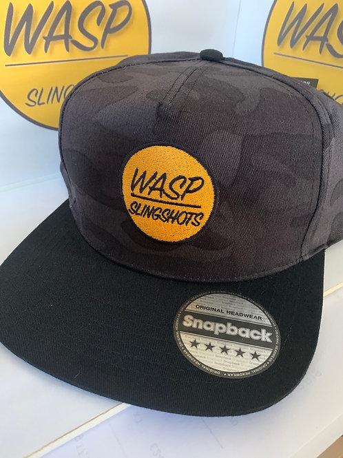 WASP Night Cam  Snapback Cap - Night Camo/Black