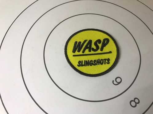 Wasp Slingshots 50mm Iron on Patch Badge