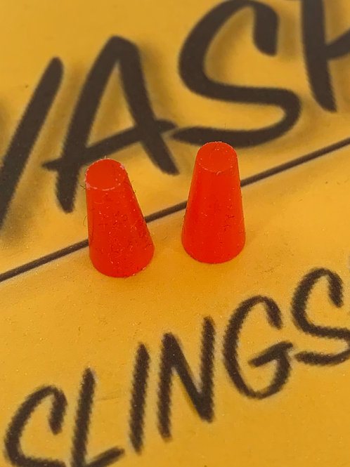 Silicone conical tapered Band plugs.