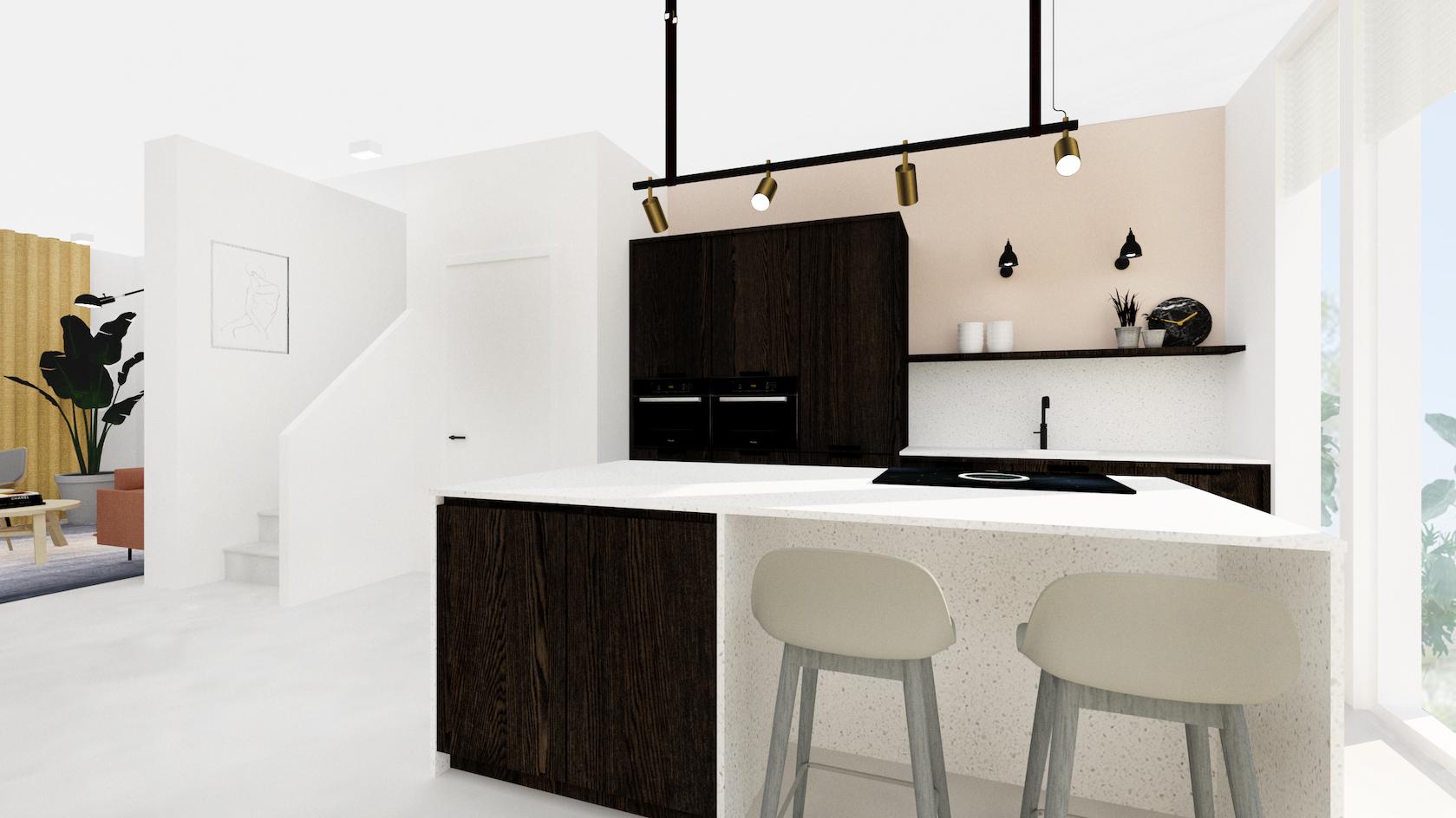 3D interieurontwerp nieuwbouwwoning Wees