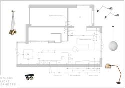Lichtplan nieuwbouwwoning Weespersluis