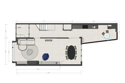 indelingsplattegrond voor interieurontwe