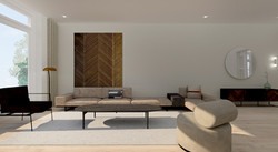 Modern landelijk interieurontwerp