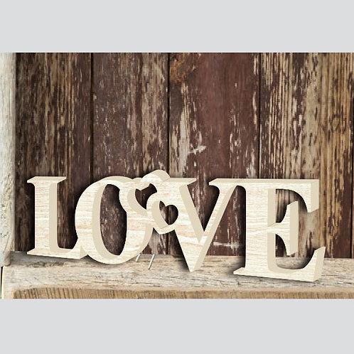 """СЛОВО """"LOVE"""" 40 Х 11 СМ"""